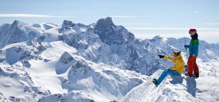 Tekstur Ski Es Di Gunung Saint Sauveur
